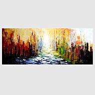 Handgeschilderde Abstract Horizontaal,Modern Eén paneel Canvas Hang-geschilderd olieverfschilderij For Huisdecoratie – EUR € 149.34