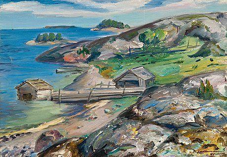 SAARISTOMAISEMA by Tyko Sallinen (March 14, 1879 – September 18, 1955), Finnish painter. | http://fi.wikipedia.org/wiki/Tyko_Sallinen