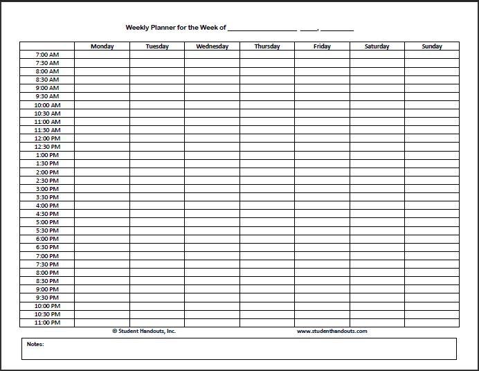 Home School Printable Time Sheets Free Printable Hourly Planner