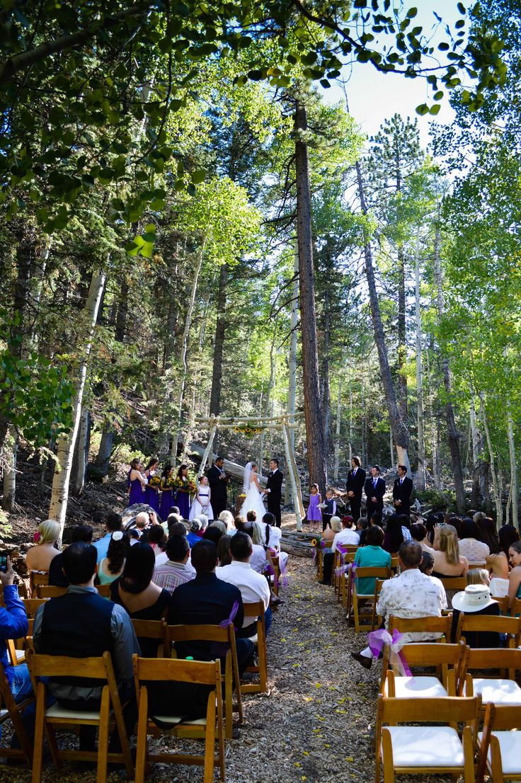 Wedding At Las Vegas Ski And Snowboard Resort Outdoor Woodsy Scenic