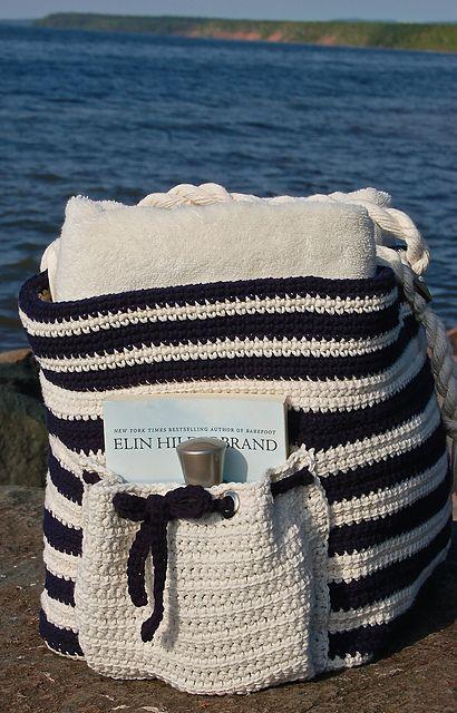 prachtige strandtas crochet