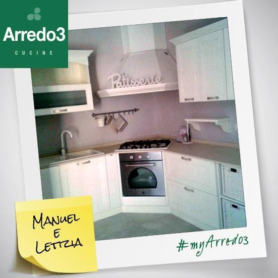 Cos'è un nido d'amore senza una cucina calda e accogliente?  Congratulazioni a Manuel e Letizia!  #myArredo3 #Arredo3
