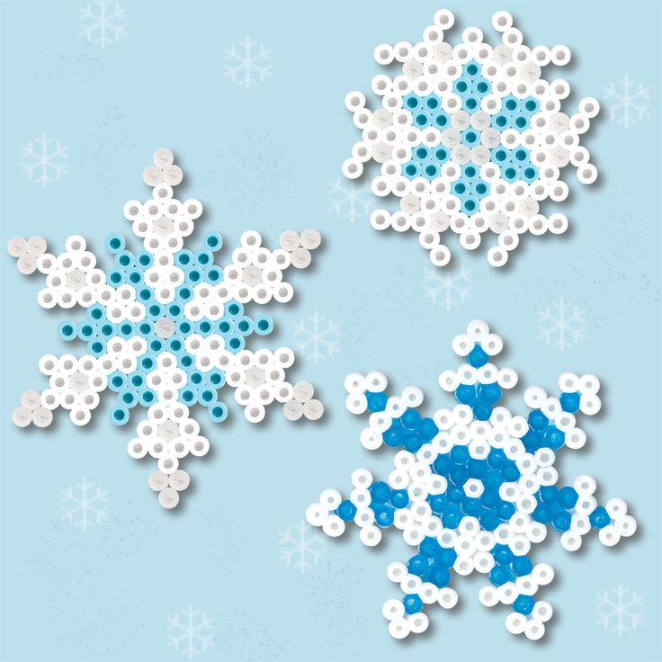 <p>Let it snow! Make these three different snowflakes using our star and daisy pegboards. Make more than one and feel free to change the colors so that each one is unique!</p>