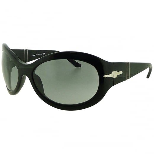 Persol Ladies Black Oversized Sunglasses With Grey Tinted Lenses. Model Number: 2788-S 95 11. Defined by their smooth curves and vintage inspired design, these feminine oversized Persol sunglasses will add instant glamour to your look.