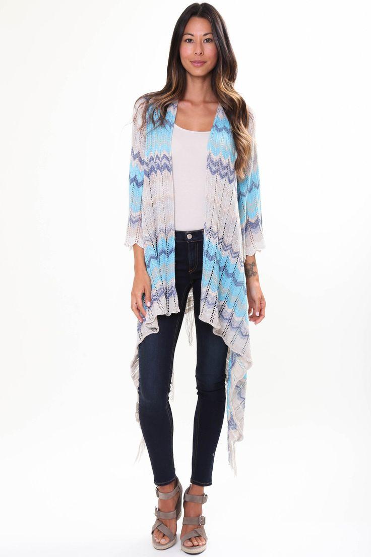 River Fringe Sweater in Ocean Dream – Goddis Knitwear