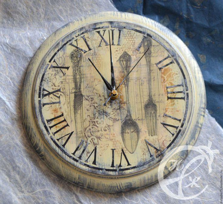 """Купить Часы """"Столовый этикет"""" - необычный подарок, часы настенные, часы, часы кухонные, классика"""