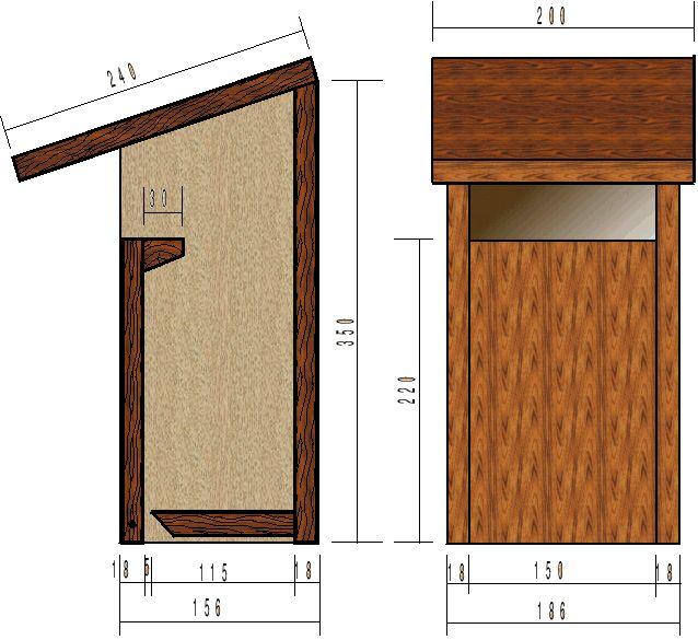 le nichoir semi-ouvert : Convient au Rougegorge, Rougequeue noir, Gobemouche gris, Bergeronnette grise...