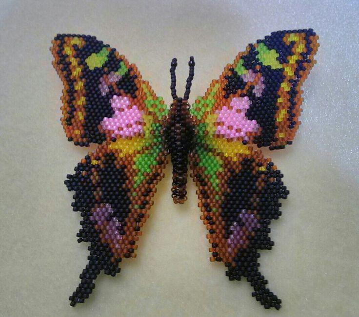 Бабочки   biser.info - всё о бисере и бисерном творчестве