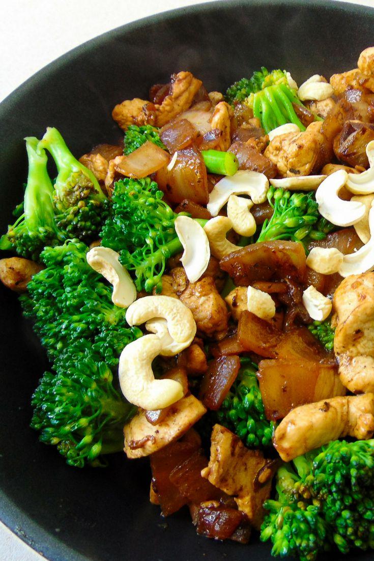 receta oriental con pollo y brocoli