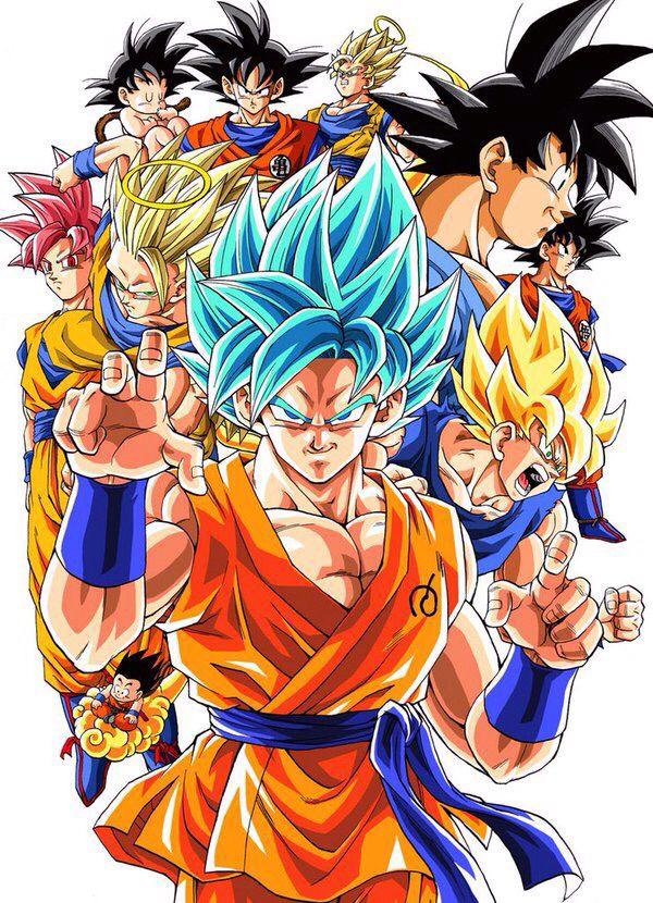 Son Goku todas las fases