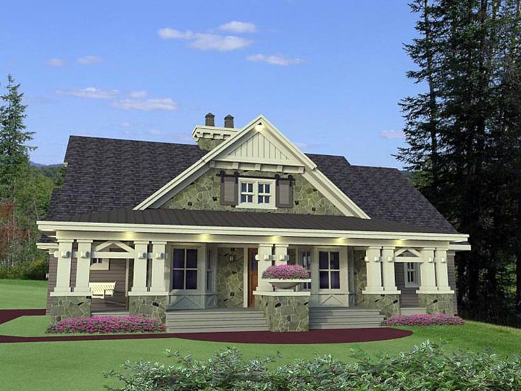 81 best modern craftsman plans images on pinterest for Craftsman home plans with porch