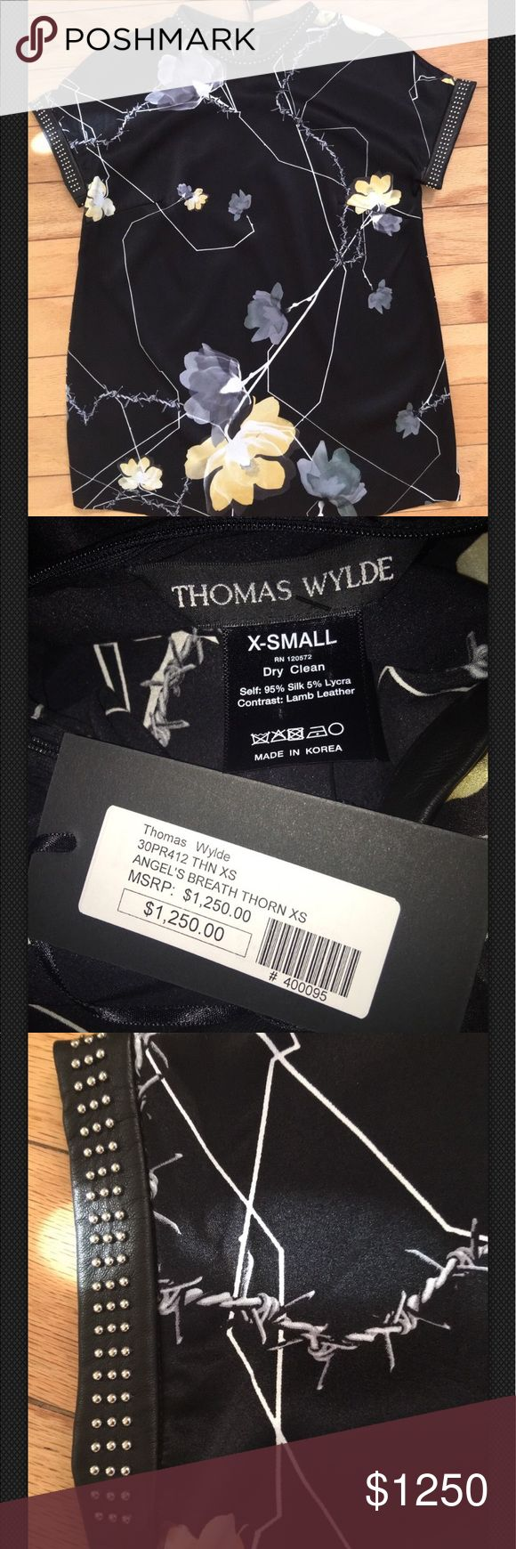 100% Authentic Thomas Wylde MSRP $1,250 On Sale 100% Authentic Thomas Wylde Angel's Breath Thorn MSRP $1,250 Material 95% Silk 5% Lycra Thomas Wylde Tops Blouses