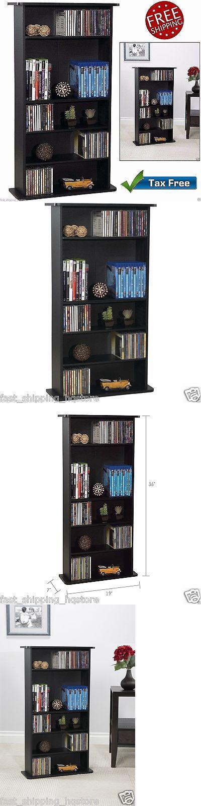 CD and Video Racks 22653: Dvd Storage Rack Cd Video Organizer Multimedia Shelves Media Tower Wood Cabinet -> BUY IT NOW ONLY: $42.99 on eBay!