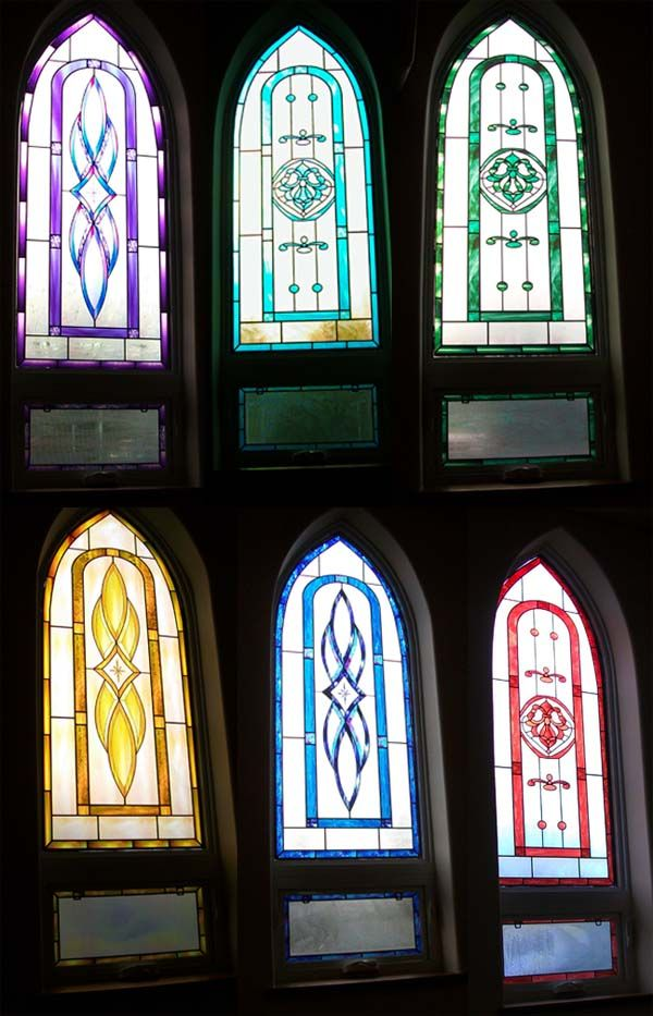 17 best images about faux stained glass on pinterest for Decorative stained glass windows