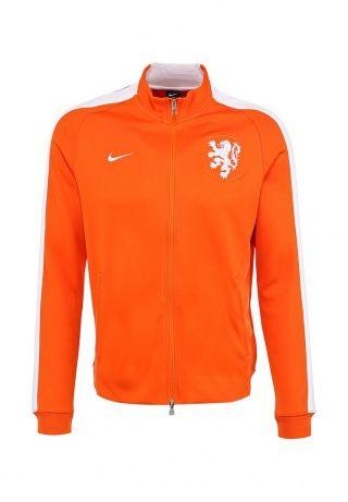 Олимпийка оранжевого цвета NIKE N98 DUTCH AUTH TRK JKT. Модель выполнена из плотной гладкой ткани. Детали: застежка на молнии, боковые карманы, эластичные манжеты и подол, эмблема национальной сборной Голландии по футболу. http://j.mp/1pNcJRz