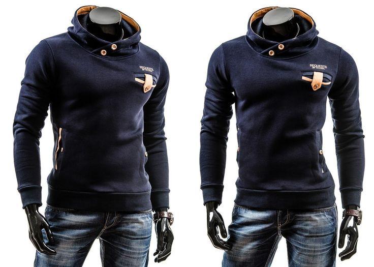 BOLF 3402 - GRANATOWY Granatowy | On \ Bluzy męskie \ Bluzy z kapturem | Denley - Odzieżowy Sklep internetowy | Odzież | Ubrania | Płaszcze | Kurtki