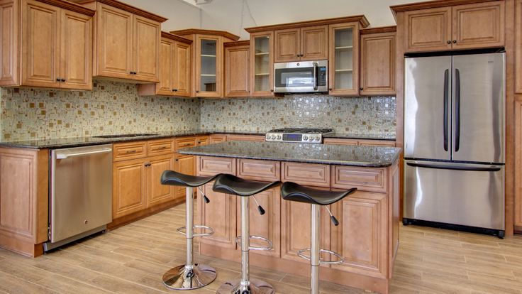 Kitchen Cabinets In Our Cinnamon Maple Glazed Style