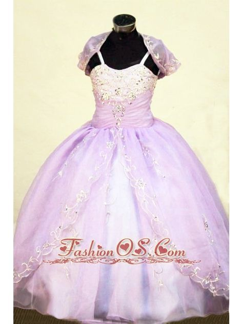 Beading Straps Floor-Length Lilac Ball Gown Brand New Little Girl Pageant Dresses- $140.29 www.fashionos.com noble little girl pageant dress in montauban | brilliant and fabulous miss indian america in cholet,style little girl pageant dresses | appliques organza little girl pageant dresses | custom made perfect little girls formal dress |