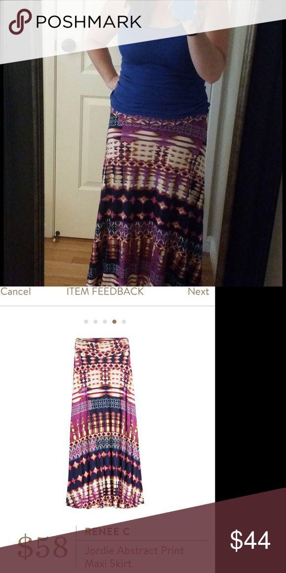 Renee C - Stitch Fix, Maxi Skirt, Petite NWT, medium petite skirt. Super fun pattern! Renee C Skirts Maxi