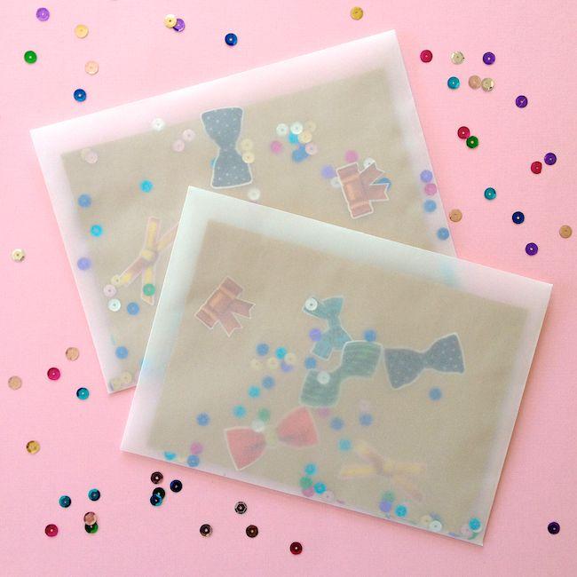 Omiyage Blogs: Send Pretty Mail #46/47 - Confetti Mail