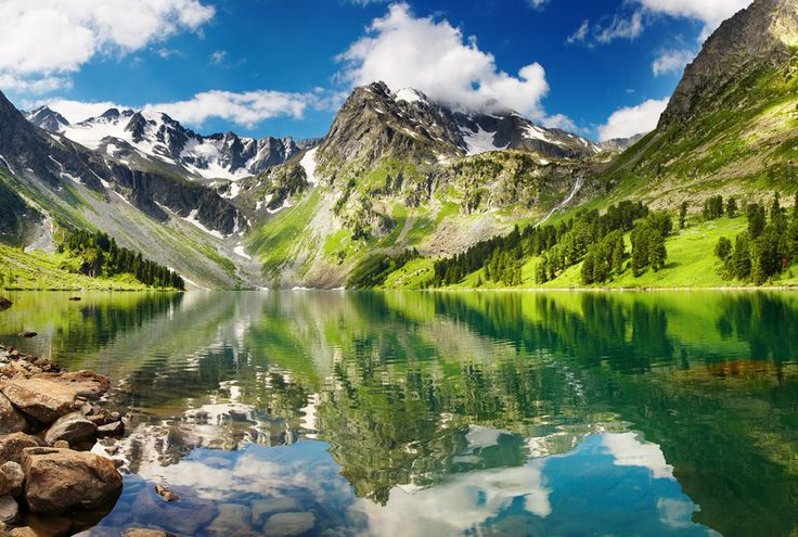 The Altai Mountain Range where China, Mongolia, and Siberia meet.  Just looking at this picture is a healing experience!
