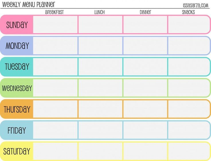 free printable meal planner for planners journals pinterest