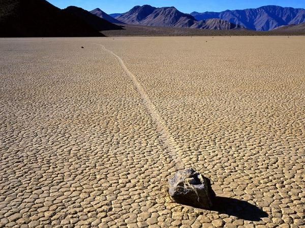 "Death Valley National Park in California is home to a place called The Racetrack Playa. Where the ""sailing stones"" race unexplainably across the desert on their own."