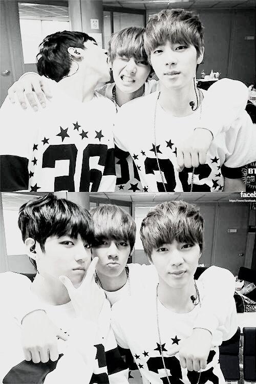 BTS Jungkook, V + Jin