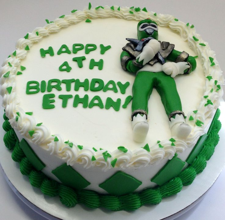 Masen wants this for his birthday cake. So looks like a power ranger birthday cake.