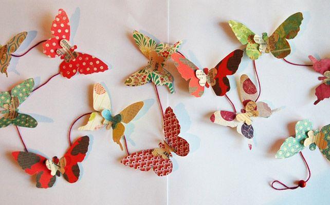 Как сделать бумажные бабочки для украшения комнаты невесты, стола и фужеров