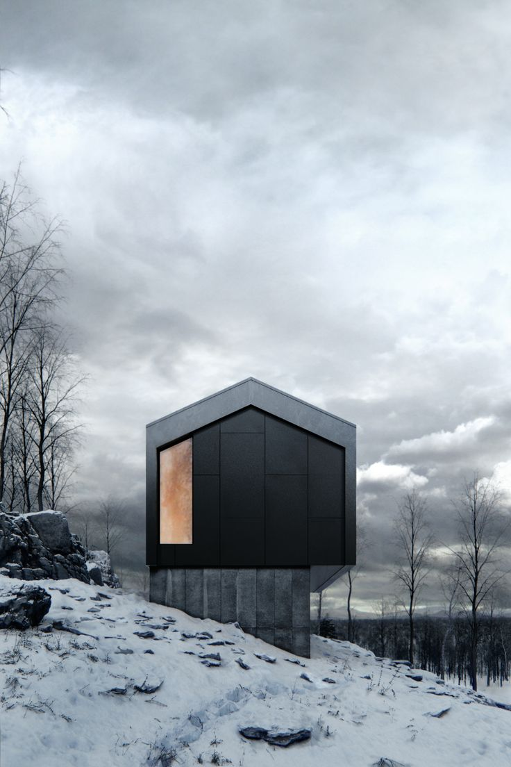 Winter House on Behance
