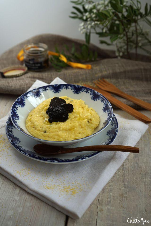 polenta crémeuse à la truffe noire  - Blog de Châtaigne