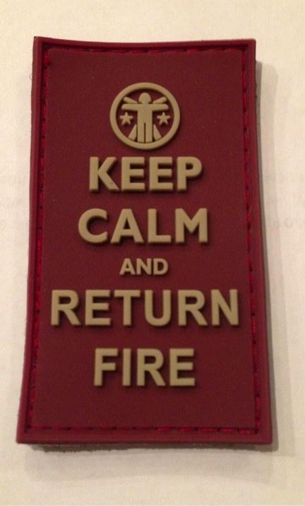 Keep Calm & Return Fire Morale Patch - GunGoddess.com