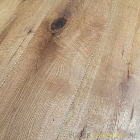 Multiplank eiken rustiek geborsteld naturel wit geolied 19cm