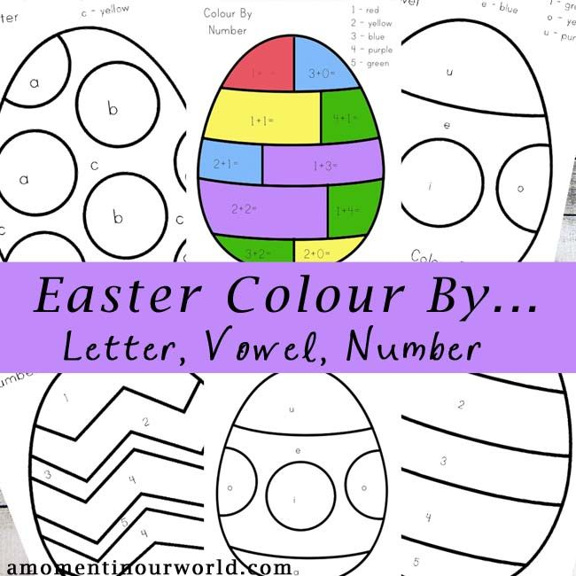 To get into the spirit of Easter, I have created this fun Easter Colour By… pages. There are 6 eggs to colour with codes that include numbers, letters and vowels. 8 pages of colour by number, letter or vowel fun. This pack is aimed for kids ages 2-8. There is one simple addition page at …
