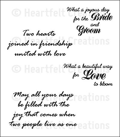 Heartfelt Creations | Wedding Sentiment PreCut Set  $15.99