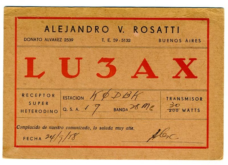 Card Buenos Aires Argentina 1958