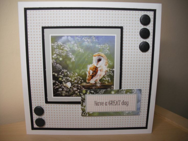 """simple card using Pollyanna Pickering """"Patience"""" set from Creative Crafting World"""