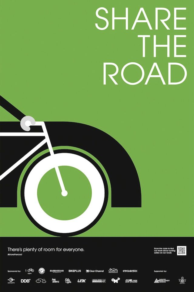 Share the road bicycling poster