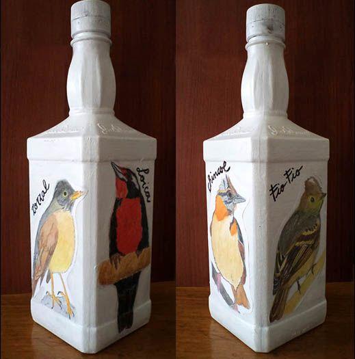 Botella Aves Chilenas.