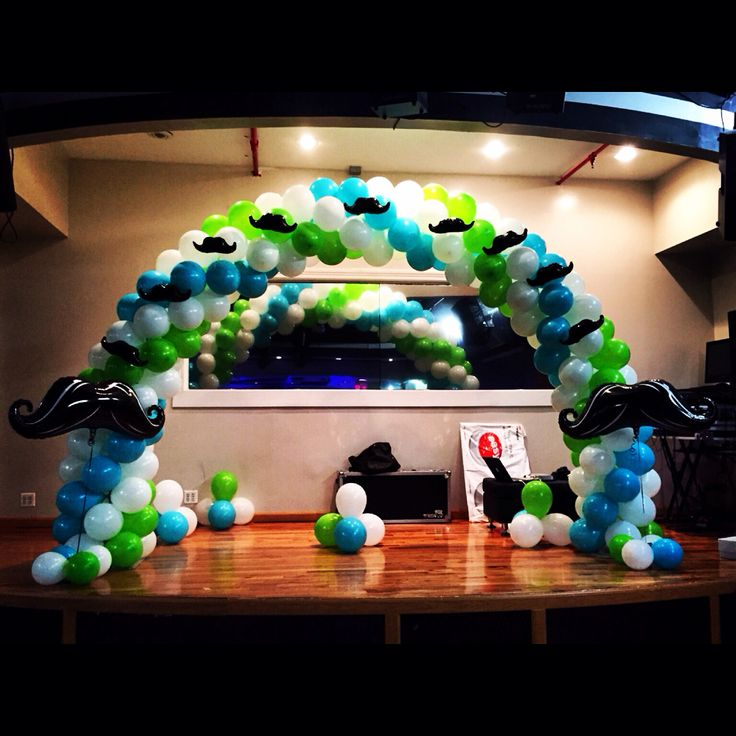 Mustache Little Gentlemen Balloon Arch... Birthday
