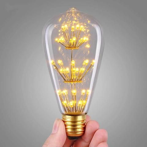 Bulb 3W ST64 LED Filament E27 Edison light bulbs 3000K Squirrel Cage Vintage Style