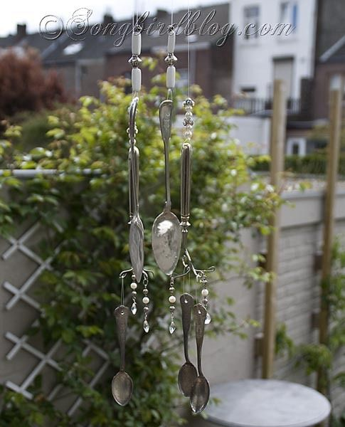 How to turn vintage Silverware into Wind Chimes via  http://www.songbirdblog.com