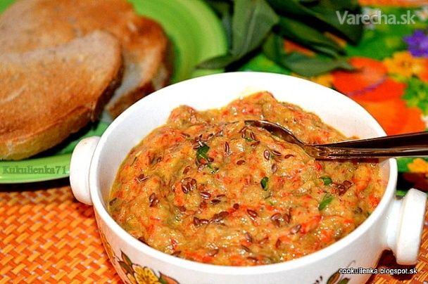 Pikantná baklažánová nátierka (fotorecept) - Recept
