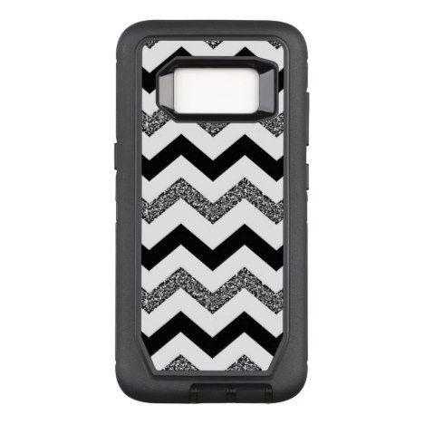 White Glitter Chevron Samsung Galaxy S8 Otterbox #chevron #samsung #galaxys8 #cases #protect