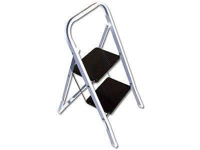 Kaufen   Klapptritt 2 stufig Haushaltsleiter Stahl Trittleiter 2 Stufen Tritt Leiter Neu
