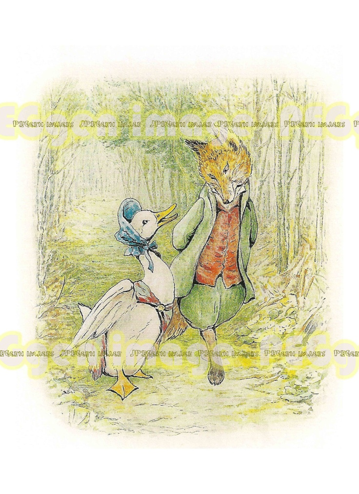 8X11Beatrix Potter Mother Goose Jemima puddle duck by JPEGgen, $2.00: