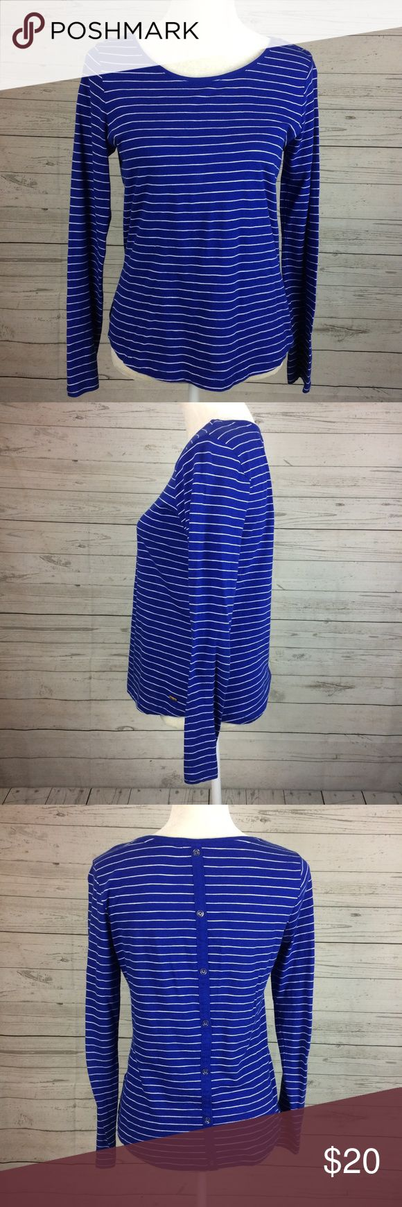 """Tommy Hilfiger Striped Nautical Long Sleeve Top S 24"""" length shoulder seam to bottom hem. 19"""" armpit to armpit. 25"""" sleeve length. Stretchy fabric. Care tag cut out. (T003) Tommy Hilfiger Tops Tees - Long Sleeve"""