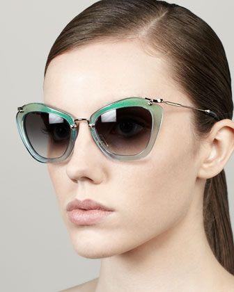 Miu Miu Turquoise Sunglasses