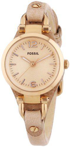 Fossil damen armbanduhr stella pink es 3535